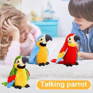 Elektrische Plüsch Lernen Sprechender Papagei Vogel Laber parrot Spielzeug