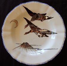"""C'/ Assiette """"moderne"""" en faïence de GIEN (Canards) """"Les grands Oiseaux"""""""