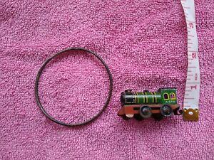 Dolls House Accessories Nursery Toys Tin Train And Metal Hoop