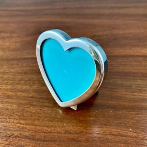 TIFFANY & CO. STERLING SILVER HEART SHAPED PICTURE FRAME - NO MONOGRAM