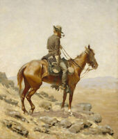The Lookout Frederic Remington Wall Art Painting Print Canvas Giclee Small 8x10