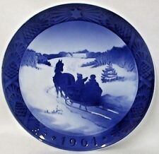 1964 Royal Copenhagen Kai Lange~Fetching The Christmas Tree~Plate~Horse w/Sled