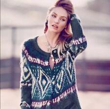 Wool Blend Sweatercoat Fair Isle, Nordic Sweaters for Women   eBay