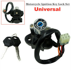 Aluminum Alloy Universal Motorcycle Modified Ignition Key Lock Set Kit Switch