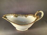 ANTIQUE NORITAKE NIPPON PORCELAIN GRAVY BOAT SAUCE HAND-PAINTED GOLD ACCENTS