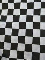 Black and white canvas squares poly cotton fabric fat quarter