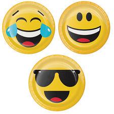 EMOJIONS Emoji DESSERT PLATES Smiley Face Birthday Party Supplies Tableware