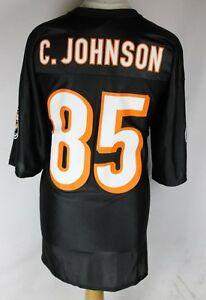 C. JOHNSON #85 CINCINNATI BENGALS AMERICAN FOOTBALL JERSEY MENS 2XL NFL