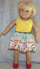 "Doll Clothes Made 2 Fit American Girl 18"" inch Skirt Set 2 pcs Sunshine Flower"