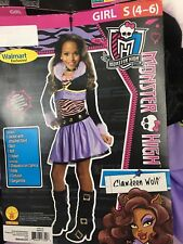 Monster High Girls Costume Halloween Purple Jacket Skirt Belt Choker Size 4 - 6