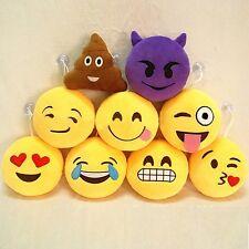 Amarillo Suave Ronda Emoji Smiley Emoticon Jugete De Peluche Muñeco 2/3/6inch