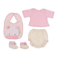 Cute Shirt Pants Socks Bib Suit for 22-23inch Reborn Baby Girl Dolls Clothes