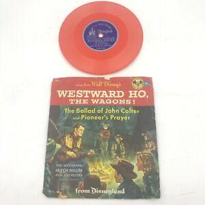 Vintage Walt Disney Westward Ho the Wagons 78 Colored Vinyl Record D311 BK0