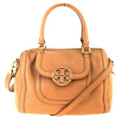 Auth Tory Burch 2WAY Leather Handbag Beige 09GA273