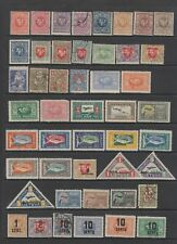 Lithuania early collection, 96 stamps , 2 Mini sheets