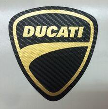 Motorsport  Aufkleber Ducati Carbon-Schwarz Gold  für Motorrad oder Auto