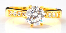 2.80 Carat D/VVS1 Solid 14KT Yellow Gold Round Shape Solitaire Engagement Ring