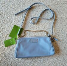 Kate Spade Jane Nylon Convertible Chain Baguette Crossbody Bag Blue Cloudcover