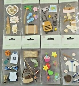 3D Card Toppers for Card Craft Fishing Holiday Basketball Baby Anniversary Love