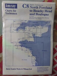 IMRAY, CHART FOR YACHTSMEN. NORTH FORELAND TO BEACHY HEAD & BOULOGNE, WATERPROOF