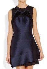 Proenza Schouler Sleeveless Shantung Dress Blue Navy Size 4 Pre-Fall 2012 $2150