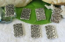15pcs Tibetan Silver floral square spacer beads FC10087