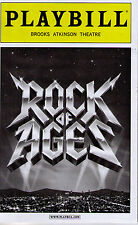 ROCK OF AGES BROADWAY PLAYBILL - KERRY BUTLER, CONSTANTINE MAROULIS