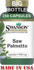 SWANSON  PREMIUM SAW PALMETTO - 540 mg - 250 Capsules - MEN'S PROSTATE SUPPORT