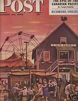 1948 Saturday Evening Post August 28 - Lubec, Skowhegan Maine; St. Andrews Golf