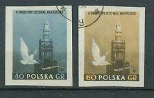 Polonia sellos 1955 reuniones Juventud Varsovia geschn mi.nr.924+925.