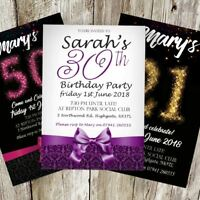 BIRTHDAY PARTY INVITATIONS KIDS OR ADULTS INVITES CHILDREN GIRL PERSONALISED