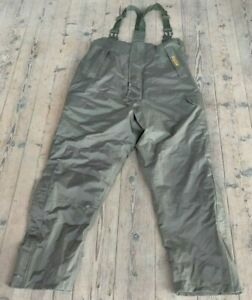 Trakker XL Waterproof Insulated Padded Fishing Trousers with Shoulder Straps