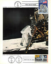 2419 $2.40 Priority Mail, 7 by 9 photo of Aldrin making first step [395256]