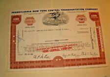 Common Stock PENNSYLVANIA NEW YORK CENTRAL TRANSPORTATION  1968  10 SHARES