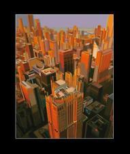 Werner Opitz Chicago Poster Bild Kunstdruck mit Alu Rahmen in schwarz 58x48cm