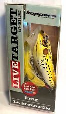 """Koppers Live Target Yellow/ Black Frog Size 2 1/2"""" 1/4 oz"""