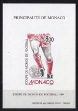 """MONACO BLOC SPECIAL YVERT 25a """" COUPE FOOTBALL 1994 NON DENTELE"""" NEUF xx LUXE J3"""