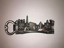 PARIS Magnet BOTTLE OPENER EIFFEL TOWER ARC DE TRIOMPHE NOTRE DAME SACRE COEUR!