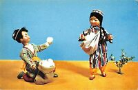 BR57172 white gold dolls in uzbek national costumes folklore uzbekistan