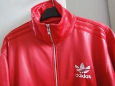 Adidas Chile 62 Jacke Rot glanz shiny Gr. M selten rar Sammler Firebird TT Leder
