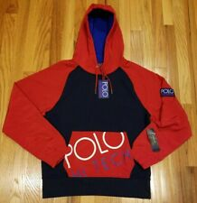 POLO RALPH LAUREN MEN'S POLO HI TECH HOODIE COLORBLOCK SWEATSHIRT SIZE XL