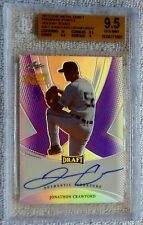 2013 Leaf Metal Draft Jonathon Crawford Purple Prismatic Auto #3/3 BGS 9.5 POP 1