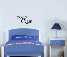 You&Me Dormitorio Cuarto De Estar Cocina & COMEDOR ADHESIVO pared imagen