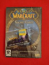 PC COMPUTER WORLD OF WARCRAFT WOW GAME CARD CARTA PRE-PAGATA 60 GIORNI SIGILLATO