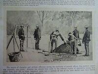 """Great B/W Print - """"SCHOOL OF ARTILLERY, 1889"""" by William Walton, 1890 by G.B."""