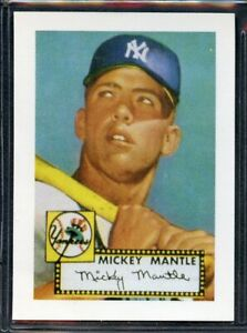 1991 Pacific Cards & Comics Reprint Of 1952 Rookie - Mickey Mantle - Yankees