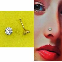 Nose Pin Stud in Pure 11carat Yellow Gold - 5mm