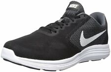 NIKE Mens Revolution 3 Athletic Running Shoe Size 11.5 Color Dark Grey/White/Bla