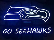 "New Seattle Seahawks Go Seahawks Neon Sign 17""x14"""