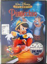 """PINOCCHIO - DVD Walt Disney EDIZIONE WARNER Z8 34692 OLOGRAMMA TONDO """"NUOVO"""""""